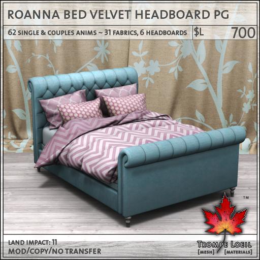 roanna bed velvet PG L700
