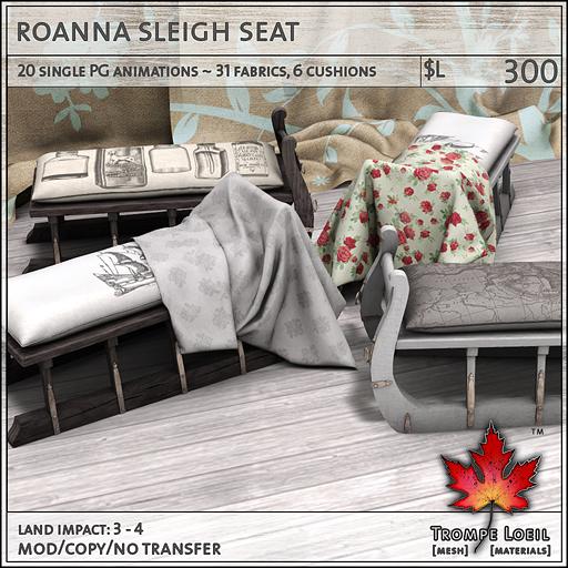 roanna sleigh seat L300