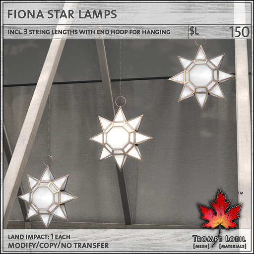 Fiona Star Lamps L150