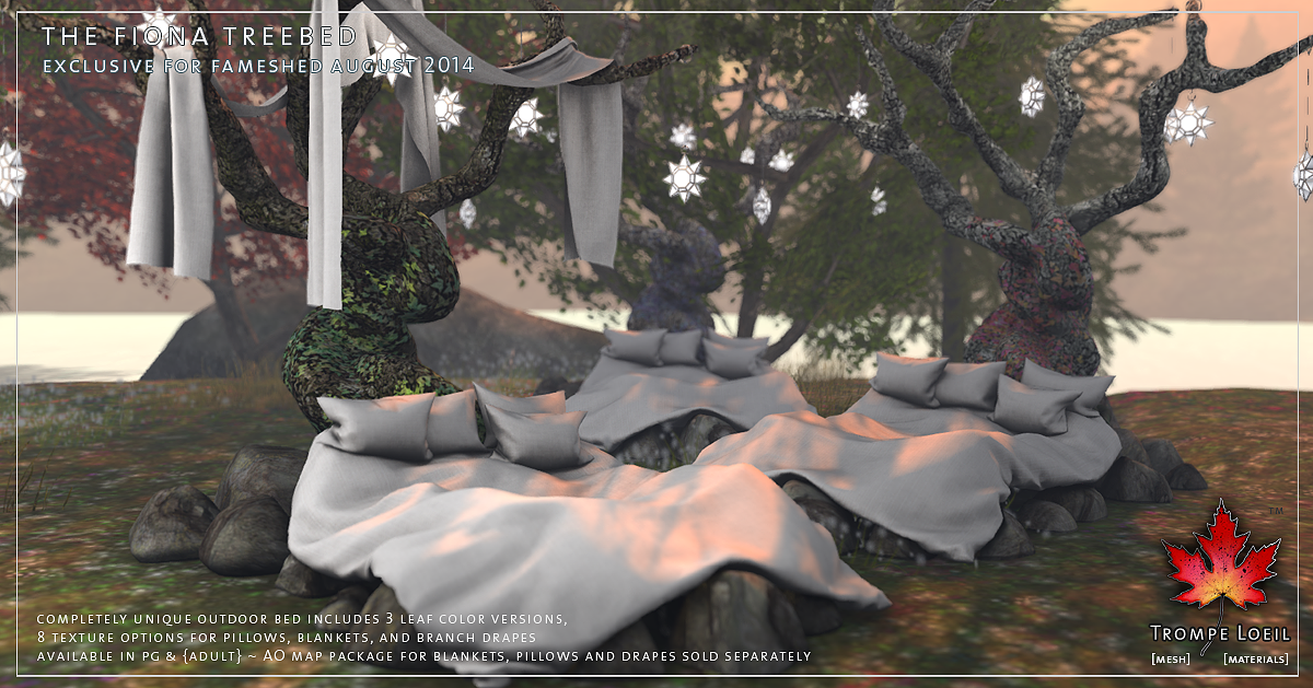 Fiona Treebed, Greenhouse & Star Lamps for FaMESHed August