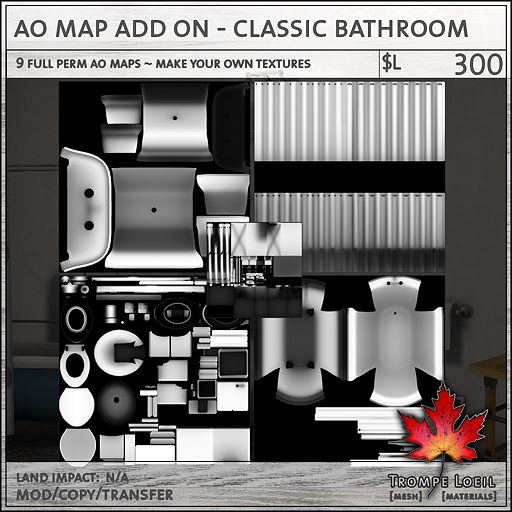 AO Map Add On Classic Bathroom L300
