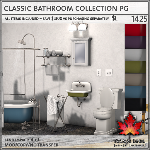 Classic Bathroom Collection Adult L1425