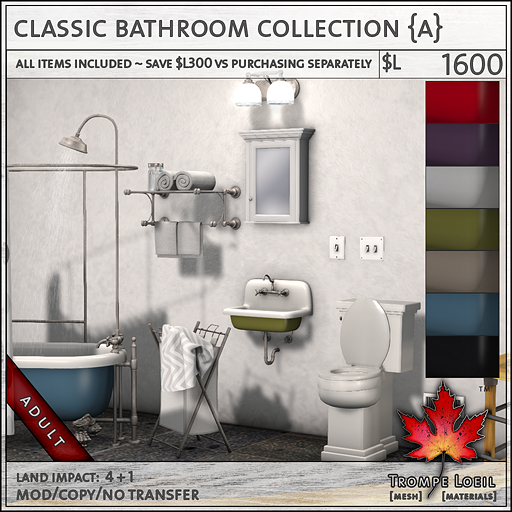 Classic Bathroom Collection Adult L1600