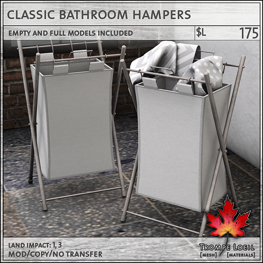 Classic Bathroom Hampers L175