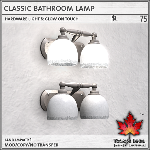 Classic Bathroom Lamp L75