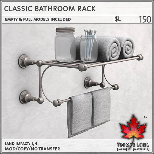 Classic Bathroom Rack L150