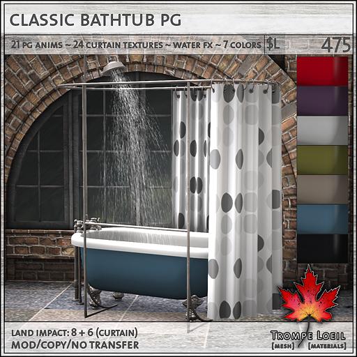 Classic Bathtub PG L475
