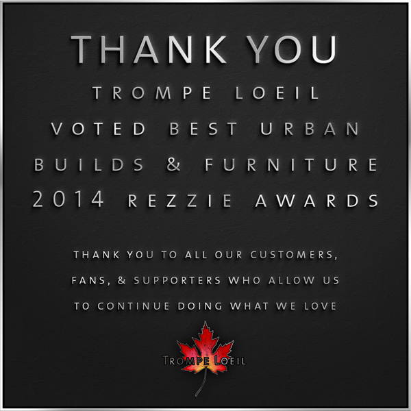 Trompe Loeil - 2014 Rezzie Award Thank You