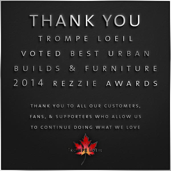 Trompe Loeil – 2014 Rezzie Awards voted Best Urban Builds/Furniture
