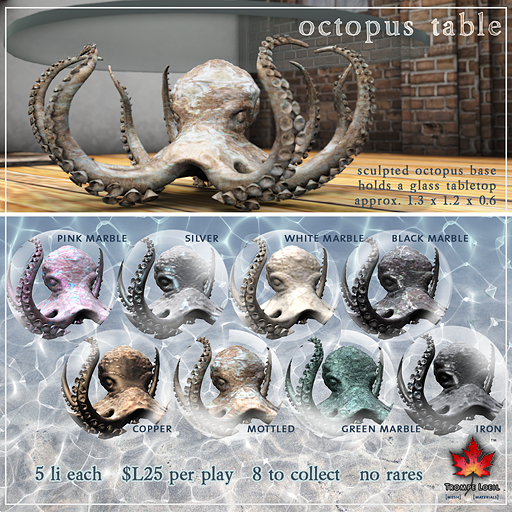 Trompe Loeil - Octopus Tables Sept 2014 Vendor Image
