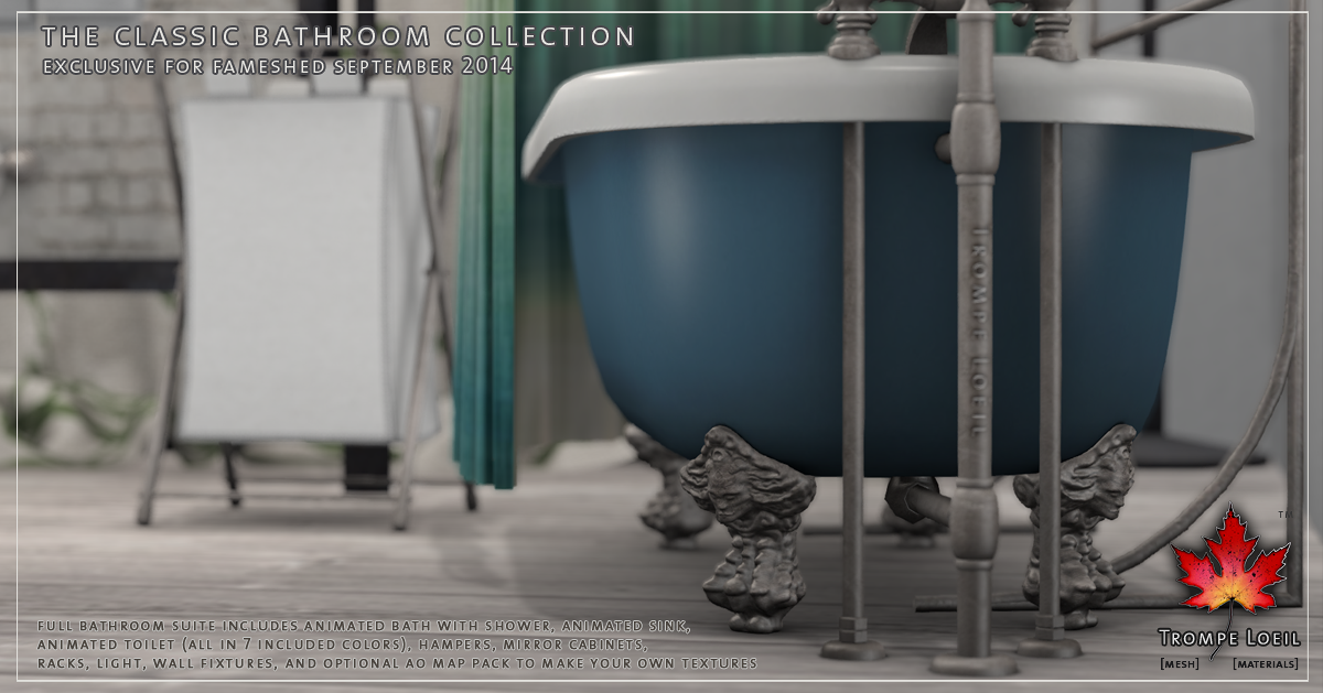 Classic Bathroom Collection for FaMESHed September