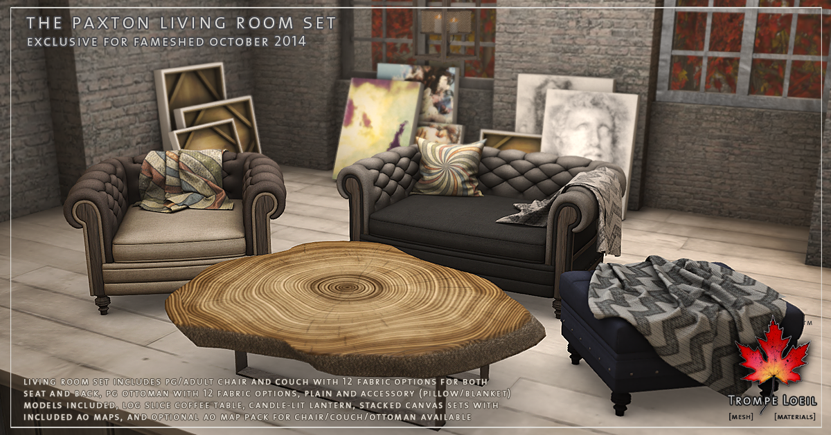 Paxton Living Room Set for FaMESHed October