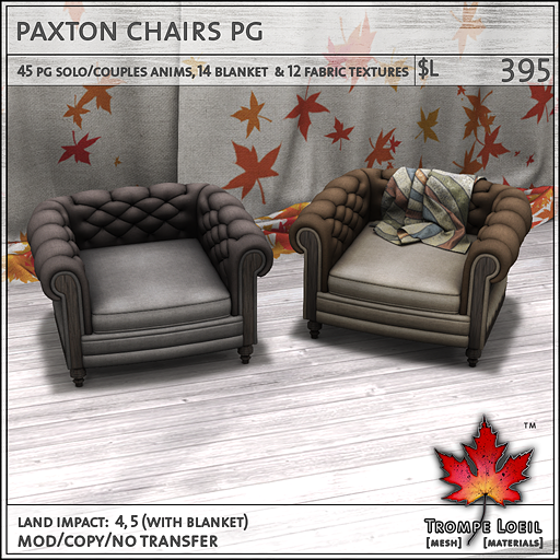 paxton chairs L395