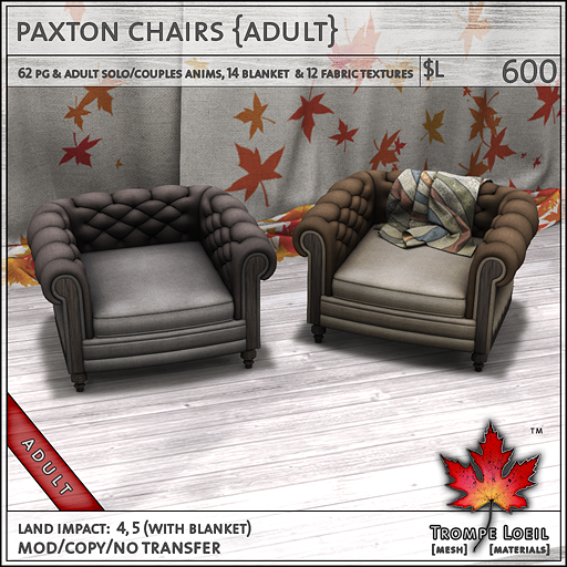 paxton chairs adult L600