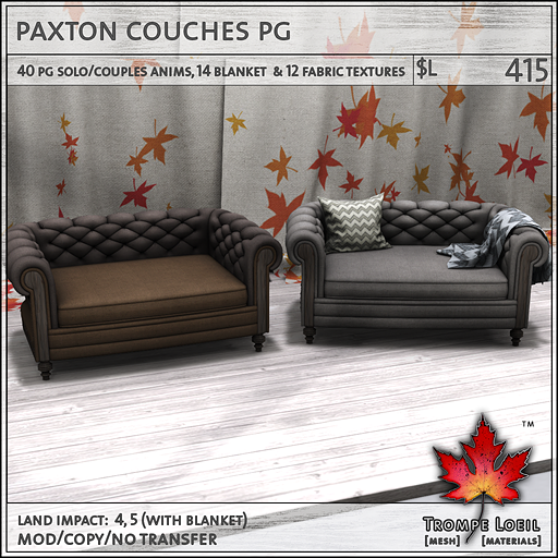 paxton couches PG L415