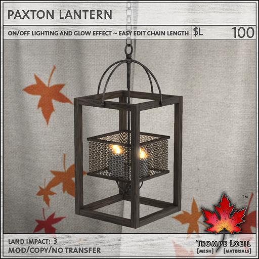 paxton lantern L100