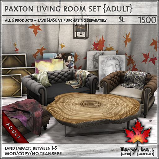 paxton living room set Adult L1500