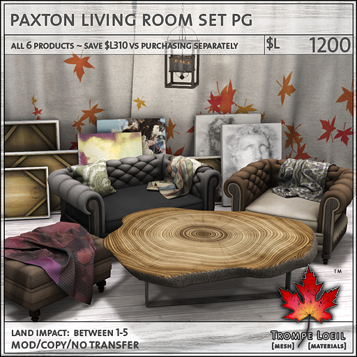 paxton living room set PG L1200