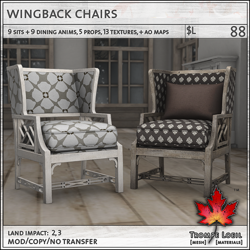 wingback chairs L88