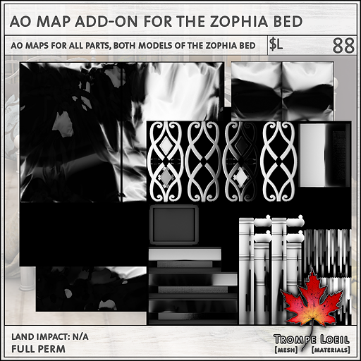 AO Map Add-on Zophia Bed L88