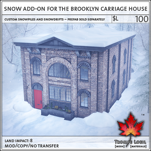Snow Addon Brooklyn Carriage House L100