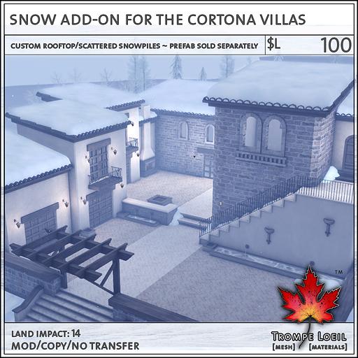 Snow Addon Cortona Villas L100