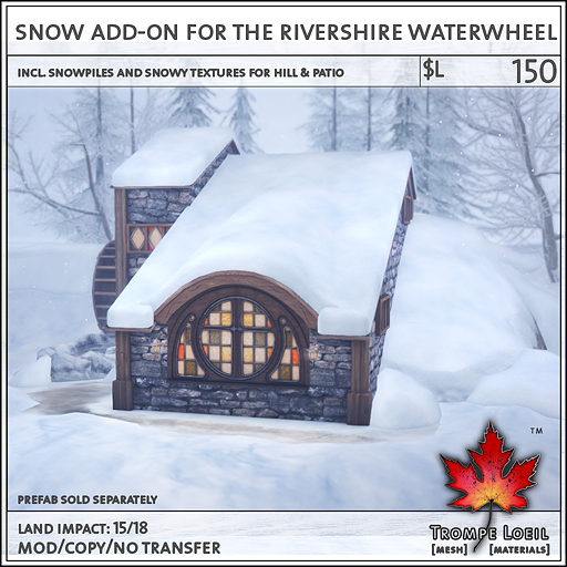 Snow Addon Rivershire Waterwheel L150