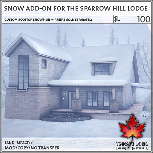 Snow Addon Sparrow Hill Lodge L100