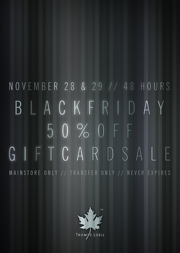 Black Friday 50% Off Gift Cards Sale November 28-29