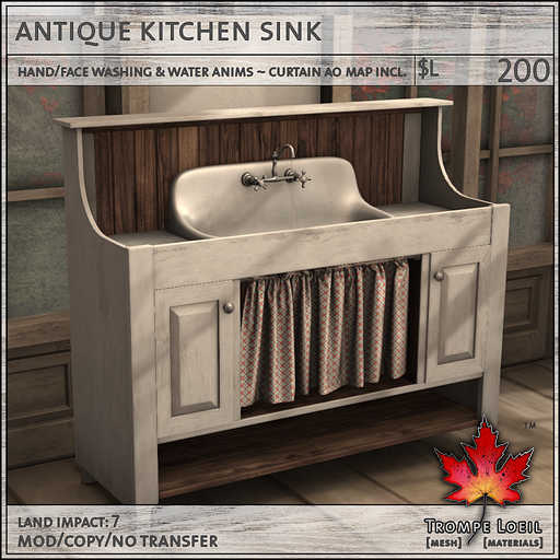 Antique Kitchen Collection For FaMESHed November