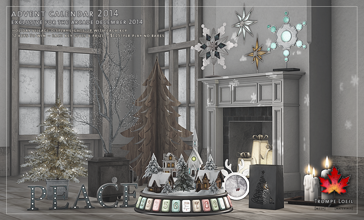 2014 Advent Calendar at The Arcade December