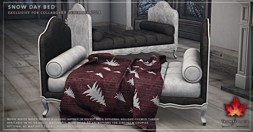 Trompe Loeil - Snow Day Bed promo