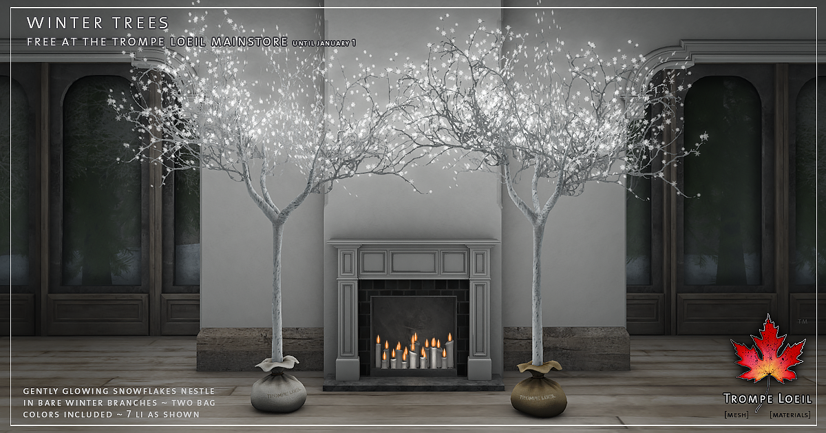 Winter Trees FREE at Trompe Loeil Mainstore until Jan. 1