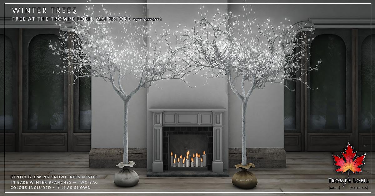 Winter Trees FREE at Trompe Loeil Mainstore until Jan. 1