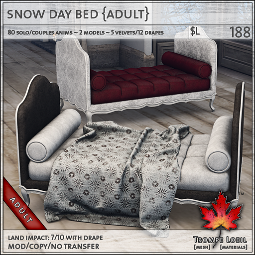 snow day bed Adult L188