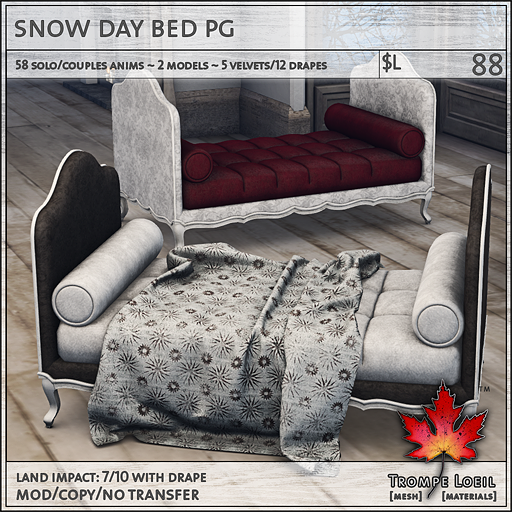snow day bed PG L88