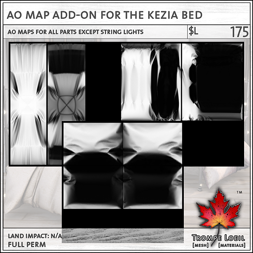 AO Map Addon for Kezia Bed sales L175