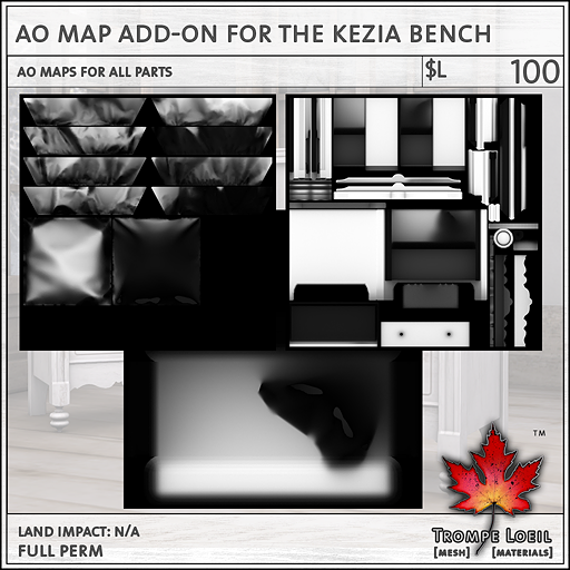 AO Map Addon for Kezia Bench sales L100