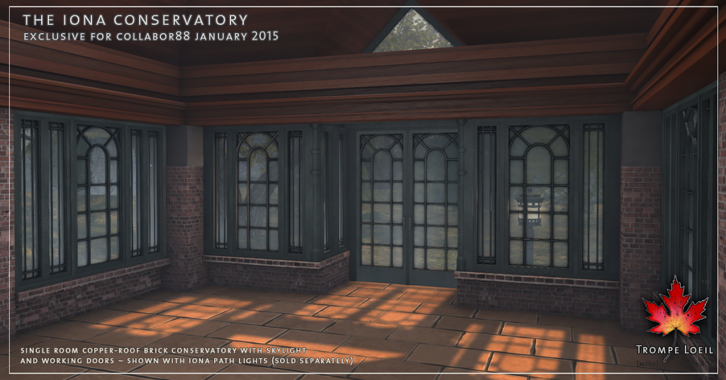Trompe Loeil - Iona Conservatory and Path Lights Promo 2