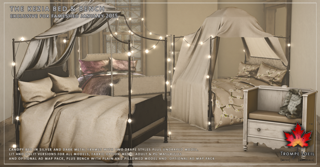 Trompe Loeil - Kezia Bed and Bench Promo