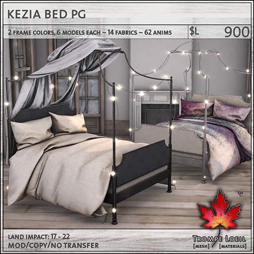 kezia bed PG L900