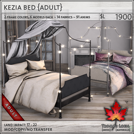 kezia bed adult L1900
