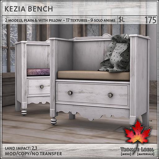 kezia bench L175