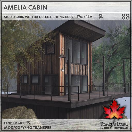 amelia cabin sales L88