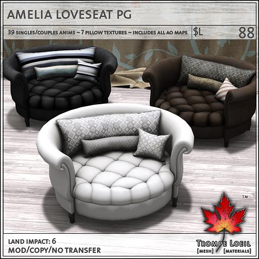 amelia loveseat PG L88
