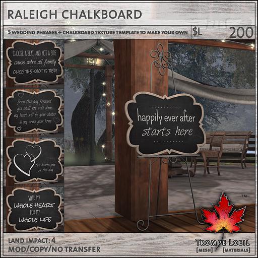 raleigh chalkboard L200