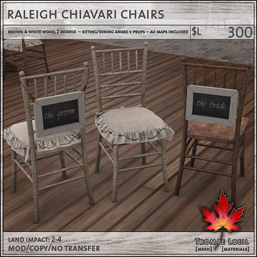 raleigh chiavari chairs L300