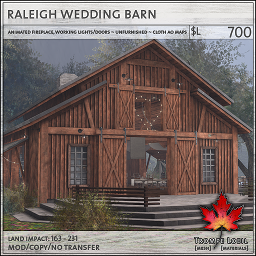 raleigh wedding barn L700