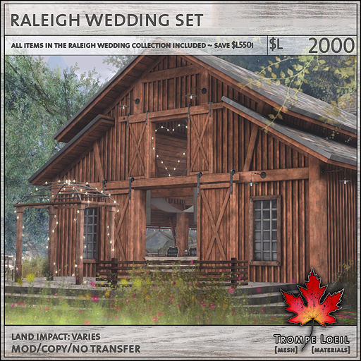 raleigh wedding set L2000