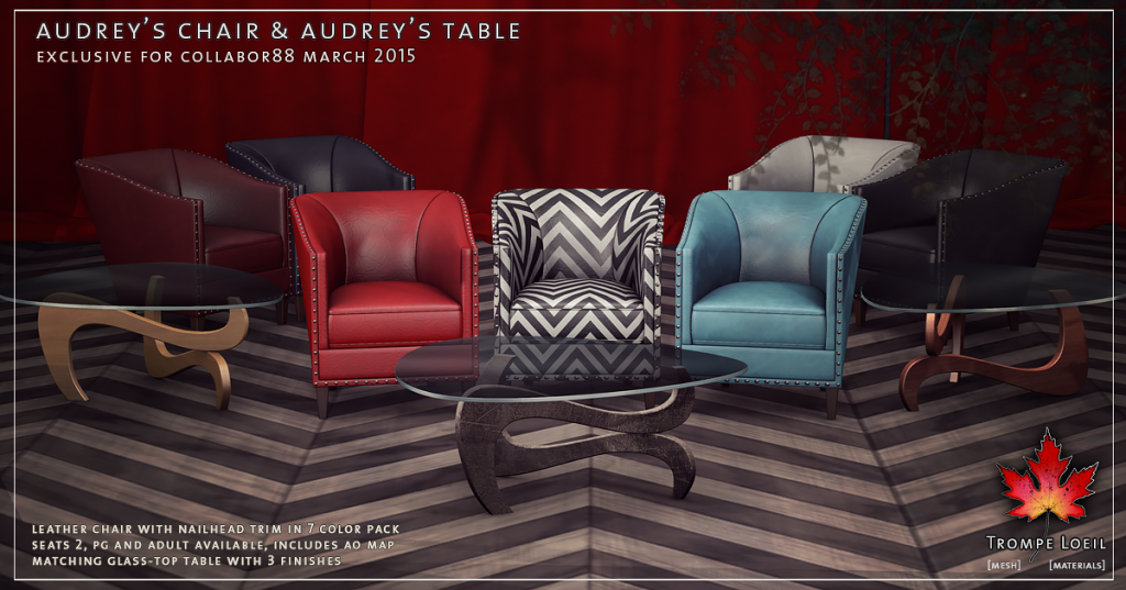 Trompe Loeil - Audreys Chair and Audreys Table promo